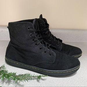 DR MARTENS black Shoreditch lace up boots, 9.